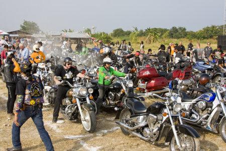 HUA HIN, THAILAND - DEC 4: Participants in Hua Hin Bike Week on December 4, 2010 in Hua Hin, Thailand . Bikers from all over Thailand came to Hua Hin. Stock Photo - 8477475