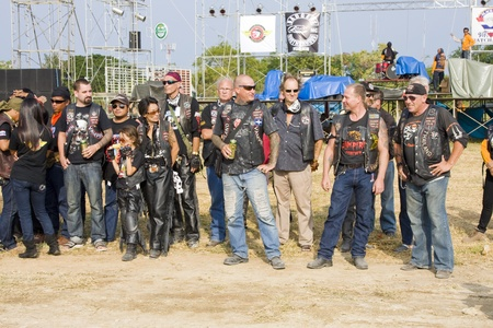 HUA HIN, THAILAND - DEC 4: Participants in Hua Hin Bike Week on December 4, 2010 in Hua Hin, Thailand . Bikers from all over Thailand came to Hua Hin. Stock Photo - 8485372
