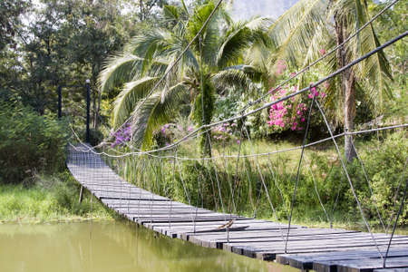 Suspension bridge in Thailand photo