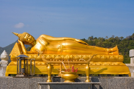 Reclining Buddha in  Hua Hin, Thailand Stock Photo - 9127128