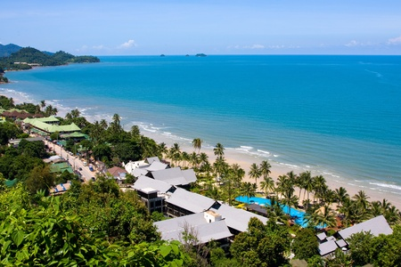 Summer beach of Thailand . Koh Chang .  photo