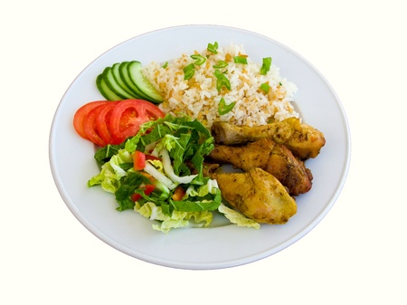 lunchen: Ontbijt op een plaat Stockfoto