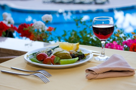poolside: Dining by the pool