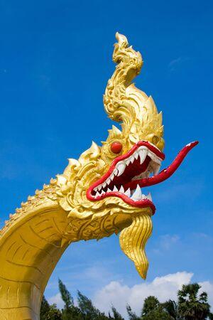 Dragon statue at a temple in Hua Hin, Thailand photo