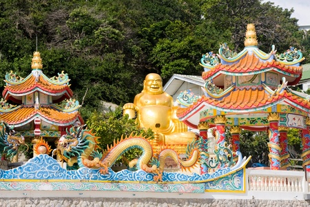 Smiling Buddha in Hua Hin, Thailand . photo