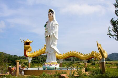Virgin maria statue at Chantaburi province Thailand. photo
