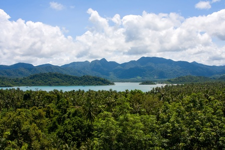 Scenic view on small tropical islands near Koh Chang island. Thailand photo