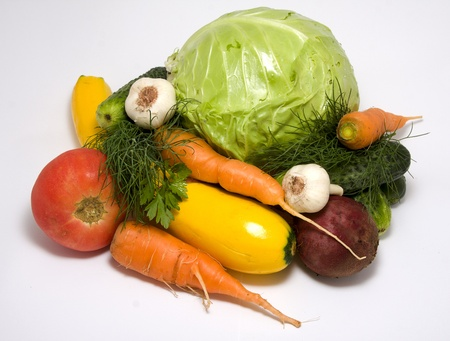 Close up of fresh vegetables for backgrounds photo