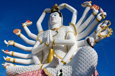 Statue of Shiva on Koh Samui island in Thailand photo