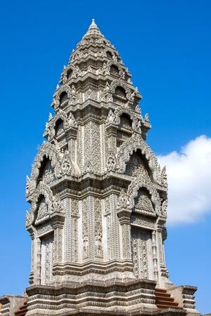venerate: Buddhist temple in Phnom Penh, Cambodia . Stock Photo