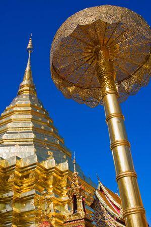 venerate: Doi Suthep Temple in Chiang Mai, Thailand Stock Photo