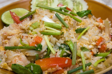 chinese menu: Rice with seafood