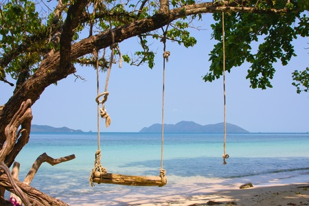 Tropical seascape in island Koh Wai, Thailand. photo