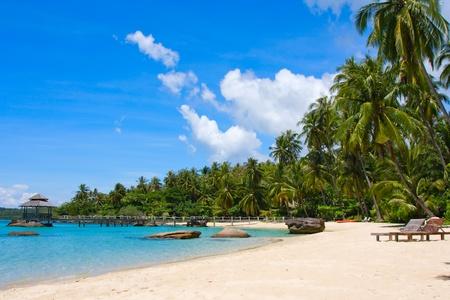 Beautiful tropical beach in island Koh Kood , Thailand 스톡 콘텐츠
