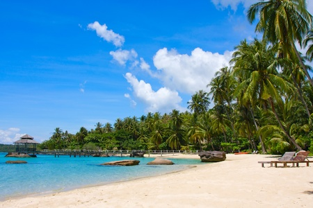Beautiful tropical beach in island Koh Kood , Thailand 免版税图像