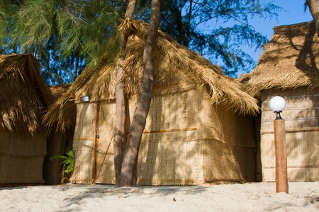 Tropical house on the beach in Sihanoukville, Cambodia Stock Photo - 13096756