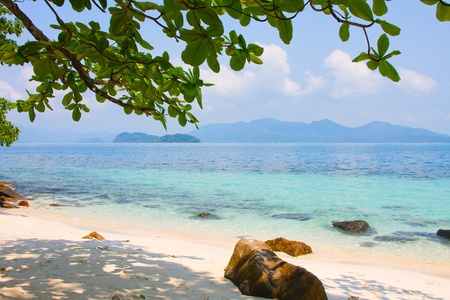 Beautiful tropical beach at island Koh Wai , Thailand . photo