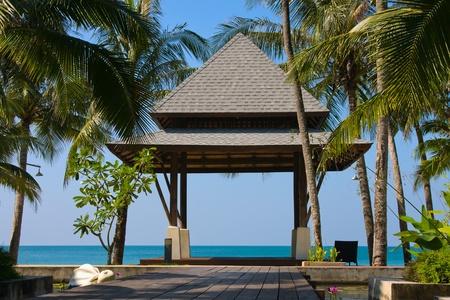 Tropical beach at island Koh Chang , Thailand  photo