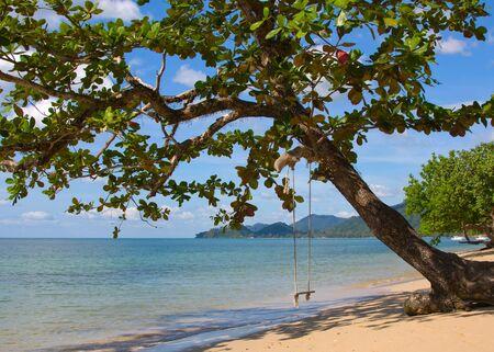 Beautiful tropical beach in island Koh Chang, Thailand photo
