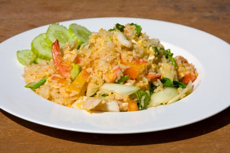 Rice with seafood photo