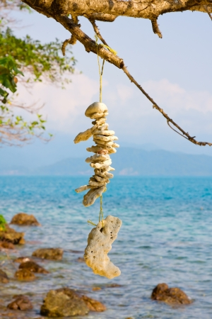 Stone necklace on the island Koh Wai , Thailand   Stock Photo - 14322678