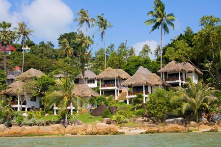 Tropical beach house on the island Koh Samui, Thailand