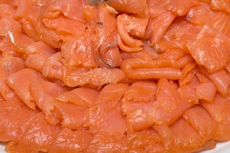 Sliced salmon fillet photo