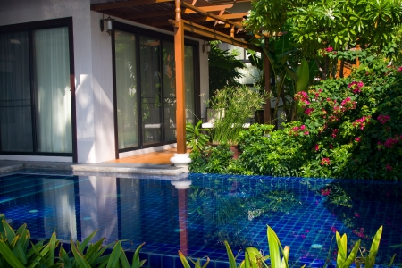 Swimming pool in house. Thailand .
