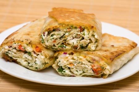 cottage cheese: Pita avvolto con ricotta e verdure