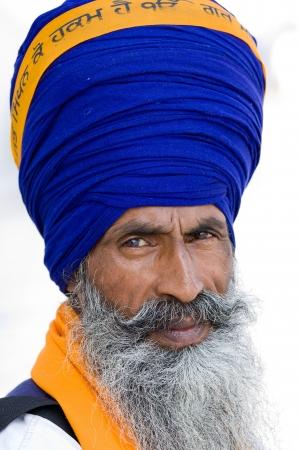 sanskrit: Sikh man in Amritsar, India.
