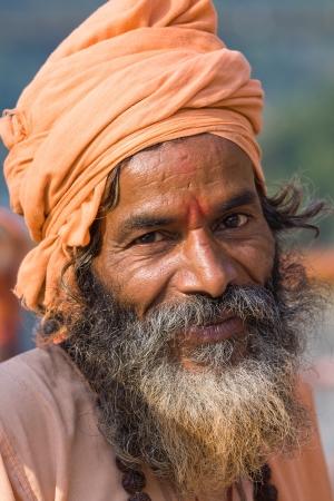 Indian sadhu (holy man). Devprayag, Uttarakhand, India. Stock Photo - 16116829