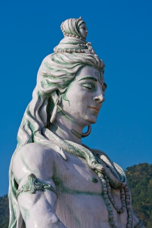 Shiva statue in Rishikesh, India photo