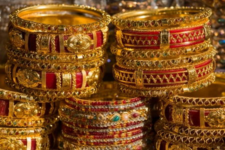 india pattern: Traditional Indian bangles with different colors and patterns.