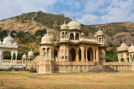 marble palace: The Marble Palace in Jaipur, India .