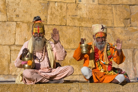 Indian sadhu (holy man). Jaisalmer, Rajasthan, India. Stock Photo - 16350709