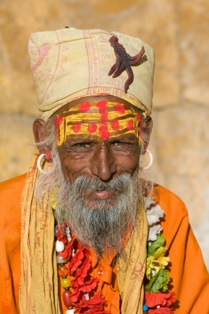 Indian sadhu (holy man). Jaisalmer, Rajasthan, India. Stock Photo - 16350712