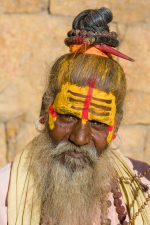 Indian sadhu (holy man). Jaisalmer, Rajasthan, India. Stock Photo - 16350717