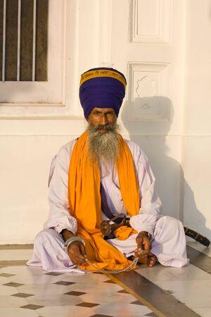 Indian sikh man in turban with bushy beard Stock Photo - 16465215
