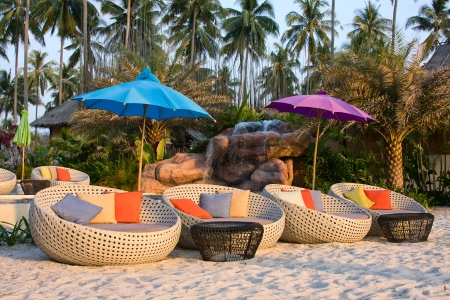 Swimming pool on the beach  Island Koh Kood , Thailand   스톡 콘텐츠