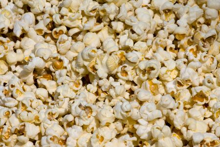 Salted popcorn background photo