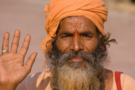 Indian sadhu (holy man). Devprayag, Uttarakhand, India. Stock Photo - 16848482
