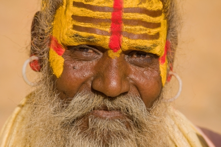 Indian sadhu (holy man). Jaisalmer, Rajasthan, India. Stock Photo - 16885210
