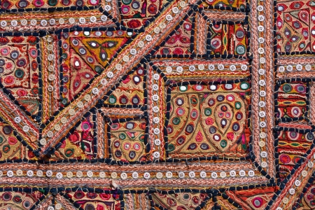 Indian patchwork carpet in Rajasthan, Asia photo