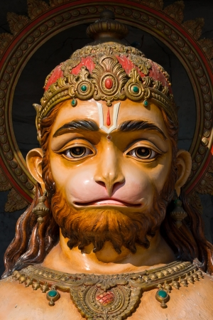 Hanuman statue in Rishikesh, India photo