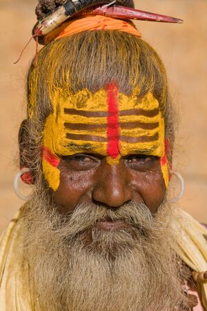 sadhu: Indian sadhu  holy man   Jaisalmer, Rajasthan, India  Stock Photo