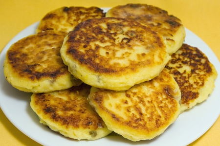Delicious homemade cheese pancakes close-up Stock Photo - 17009834