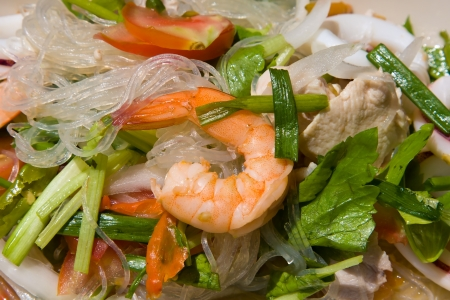 Thai seafood spicy salad Stock Photo - 17009929