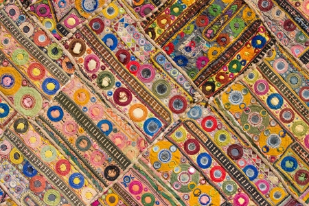Indian patchwork carpet in Rajasthan, Asia Stock Photo - 17029482