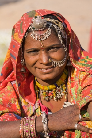 Portrait of a India Rajasthani woman closeup Stock Photo - 17015656