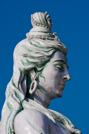 Shiva, hindu idol on the Ganges, Rishikesh , India photo